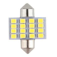 Супер белый 31 мм гирлянда 16 SMD 1210 Автомобильные светодиодные укрыты внутренной сводной двери светильник лампа путь светильник ing 12 в рабочий светильник горячая распродажа