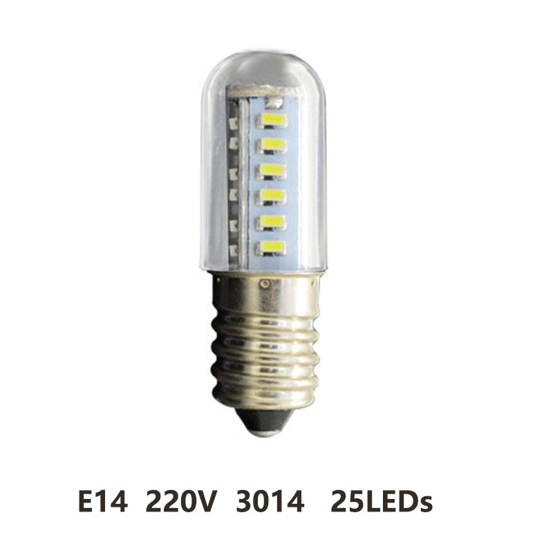 Mini E14 1.5W-7W LED Bulb Refrigerator Light Fridge Lamps SMD 5050 Crystal Spotlight Corn Pendant Lights Cool White AC 200-240V