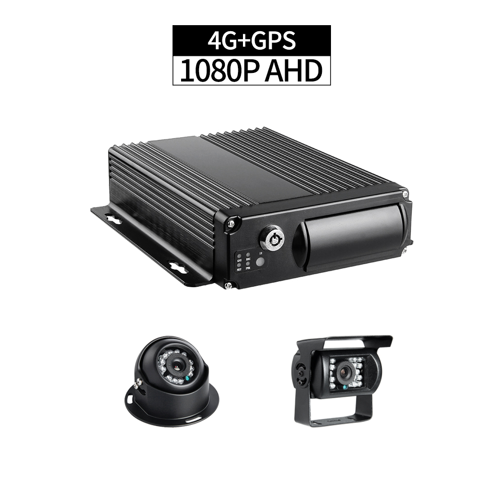 4CH 1080P SD Card Mobile Truck DVR Kit 4G LTE GPS Positioning with 2.0MP Front/Rear View Waterproof CCTV Car Camera for Taxi Bus free shipping 4 ch 4g gps vehicle car dvr kit h 264 g sensor mobile dvr pc phone real time view duty cctv camera for car truck