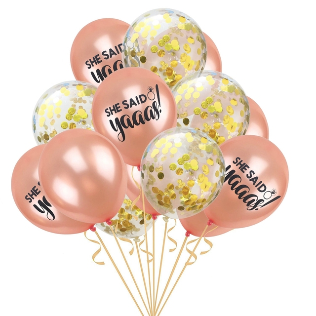 YORIWOO She Said Yaaas I Do Rose Gold Balloon Bride Wedding Team Bridal Shower Favors Hen Bachelorette Party Decorations To Be 1