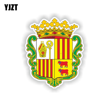 YJZT 13.3CM*10.9CM Creative Decal Andorra Andora Coat Of Arms Car Sticker Accessories 6-2013 image