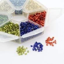 2.2mm Mixed 11/0 Two Cut Silver Lined Small Loose Jewelry Making Seed Beads, Mixed Color, Hole: 0.5mm; about 566pcs/compartment