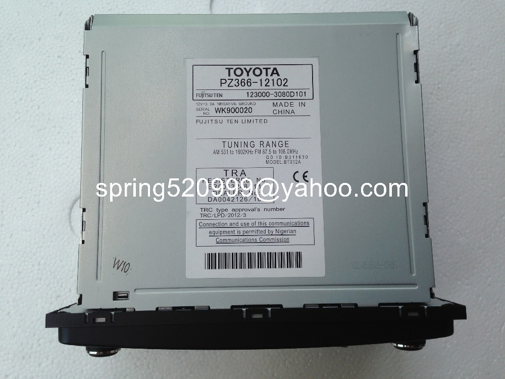 Toyota PZ366 12102 Fujitsu ten 6 CD changer MP3 Bluetooth for Toyota Land Cruiser FJ Prado fujitsu ten wiring diagram toyota efcaviation com fujitsu ten car stereo wiring diagram at mifinder.co