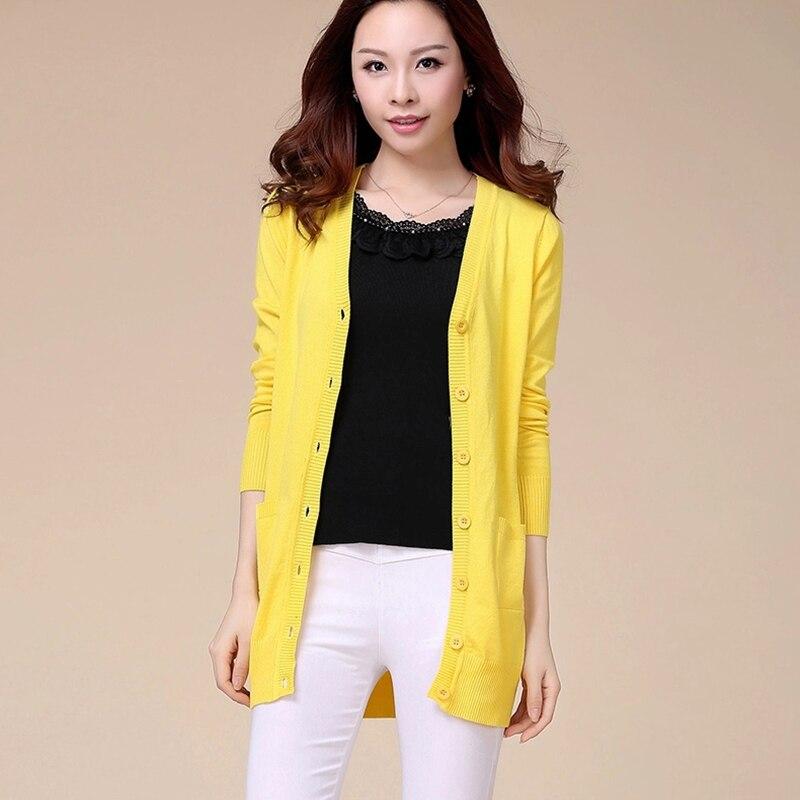 Yellow Cardigan Sweaters