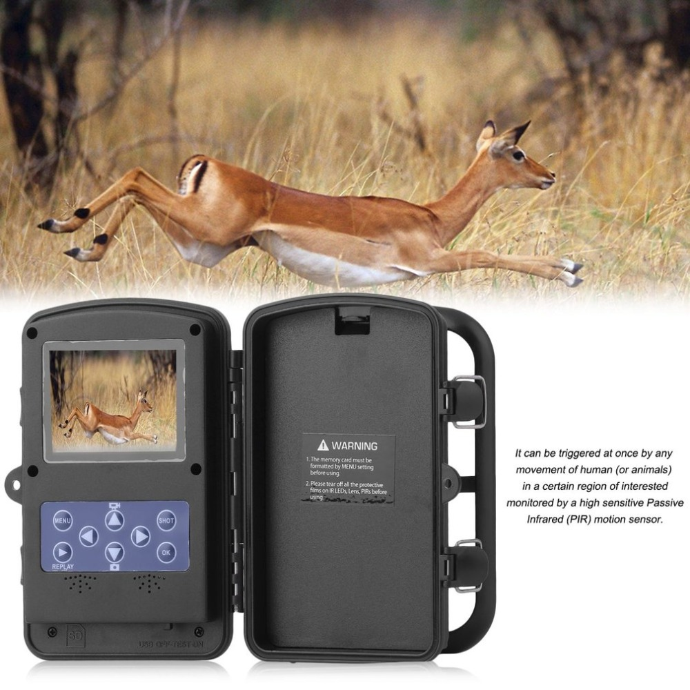 цена на Professional 2.4inch TFT LCD 720P 2MP Sensor Trail Night Vision Camera Security Hunting Farm IR Scouting Wildlife Cameras