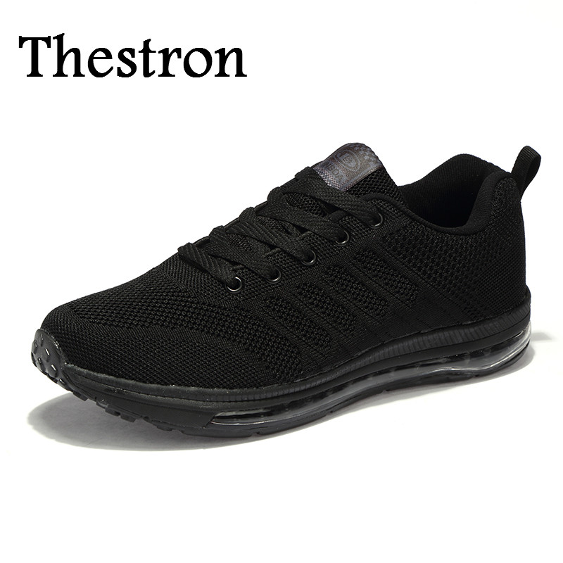 Thestron Men Sneakers Brand Sport Air Design Men Running Sneakers Blue/Black Men Gym Shoes Comfortable Running Mens Shoes