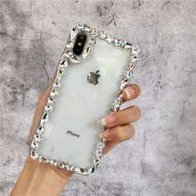 Rhinestone Clear Case For iPhone 11 Pro Max 7 8 6 6s X Plus XR XS MAX Transparent Cover For iPhone XS MAX Cases For iPhone 7 new iphone case for iphone 11 for iphone11 pro max 5 8 inches 6 1 inches 6 8 inches 6 6s 7 8 plus ix xr max x fashion back cover