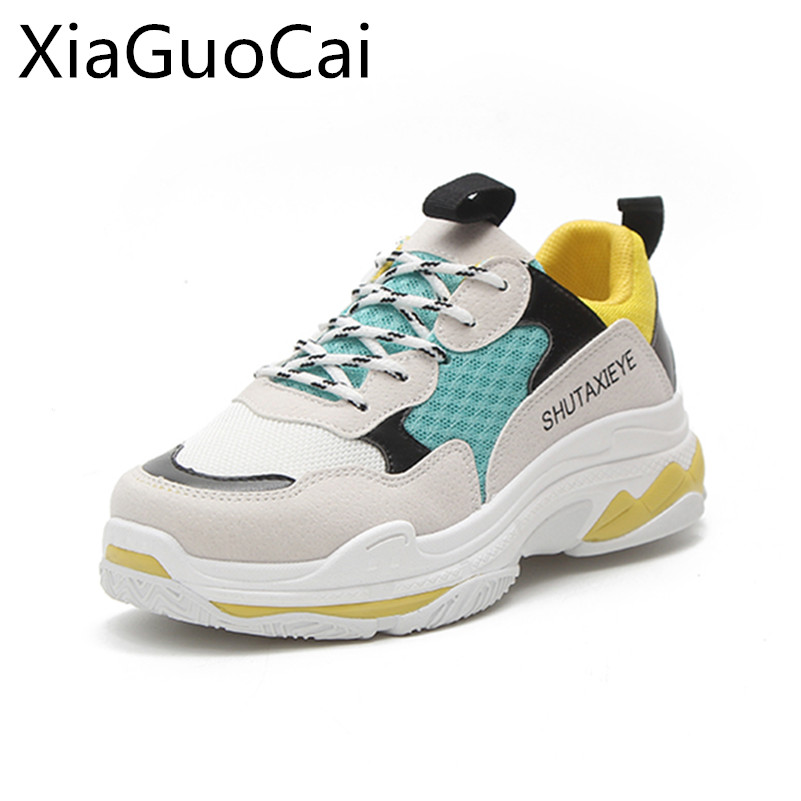 Platform Women Casual Shoes Spring and Autumn Soft Bottom Sneakers Med Height Fashion Female Basic Flats