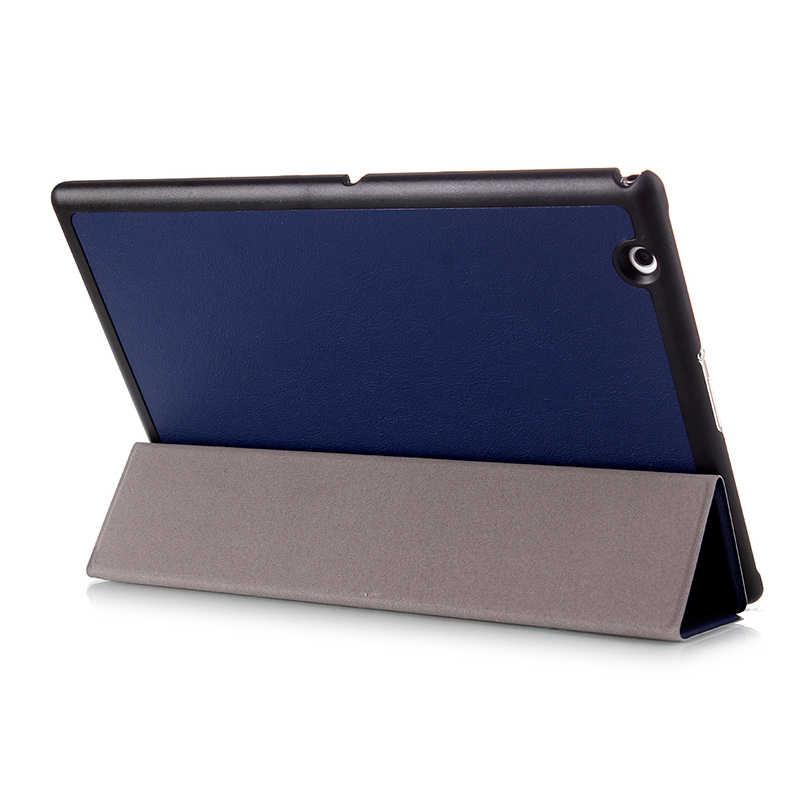 """Умному магниту складной чехол-книжка из искусственной кожи Funda чехол для Sony Xperia Z2 (10,1 """"), Z3 (8'') планшетный защитный чехол + Защитная пленка на экран + подставка для ручек"""