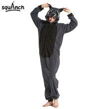 Серый черный Енот Onesie Kigurumi девушки Для женщин для взрослых животных  пижамы костюм зимний одежда для сна общая вечерние за. 6d3ed307ea3cb