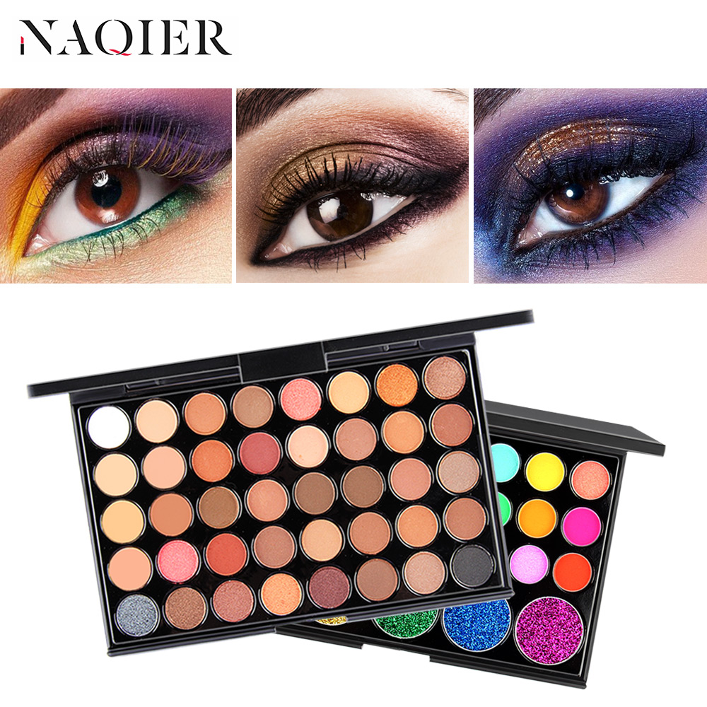 Popfeel Women 40 Colors Eyeshadow Matt Light Pearl Color Eyeshadow Eye Power Pastel Color Eyeshadow Eye Shadow Beauty & Health