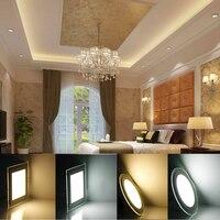 10 pcs LED Ceiling Light Recessed Panel Lamp Light Round/Square Downlight 6W/12W LED Bedroom Light Livingroom Light 110V 220V