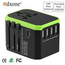 Rdxone адаптер, адаптер для путешествий, универсальный адаптер питания, зарядное устройство для США, Великобритании, ЕС, Австралии, настенные электрические вилки, розетки, конвертер