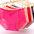 New Arrival Women Sexy Panties Seamless Lace Briefs Ladies Ice Silk Breathable Pink Underwear Sexy Women Clothing Free Shipping