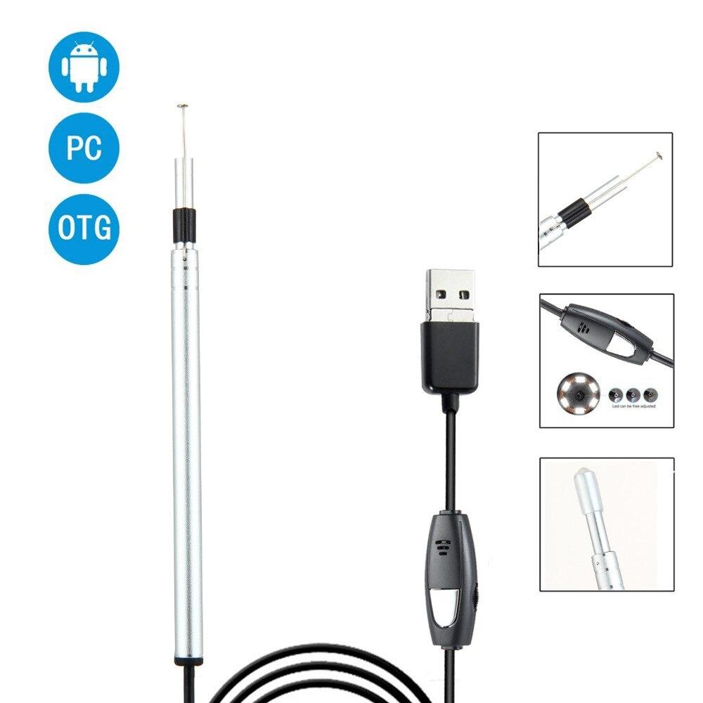 Micro USB Endoscopy Camera Ear Lens LED Mini Android PC-in