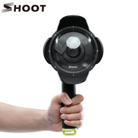 SHOOT 4inch Dome Port For Xiaomi Yi Waterproof For Xiaoyi Eliminate Refraction Half Underwater Photography