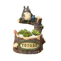 Miyazaki Totoro Green Plant Hydroponic Ornament Desk Plant Hydroponic Craft Cute Animal Miniature Home Decor Accessories Gift