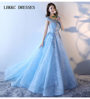 Blue Quinceanera Dresses Lace With Tulle Sleeveless Ball Gown Sweet 16 Dresses Vestidos De 15 Anos Debutante Gowns