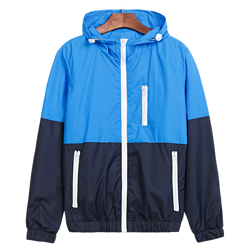 Jacket Men Windbreaker 2017 Spring New Fashion Jacket Men's Hooded Casual Jackets Male Jacket Coat Thin Men Coat Outwear JK101
