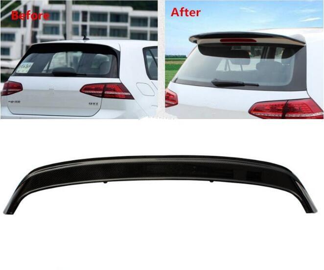 Rapide par EMS pour voiture en Fiber de carbone aile arrière coffre lèvre spoiler convient pour Vw Volkswagen Golf 7 TSI 2014 2015 2016 2017