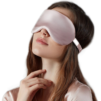 100% Natural Silk Sleeping Eye Mask Double-sided Pink Black 3D Cover Eyepatch Shade Sleep Goggles Light And Breathable Blindfold