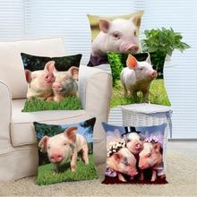 Custom Cut Cerdo Mascotas de Lujo Throw Pillow Sofá Del Hotel Home Cubierta Cojín Decorativo 45X45 cm Lados Dobles cojines decorativos de lujo