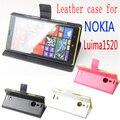 Для Nokia Lumia 1520 case cover, Good Quality Leather Case + жесткий Задняя крышка Для Для Nokia Lumia 1520 мобильного телефона Case