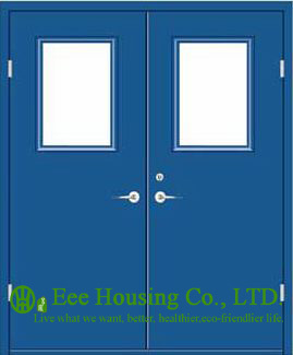 Customized Steel Fire Doors With Glass Vision, 1 Hour Fire Rated Door Steel Fire Doors For Commercial Building Projects