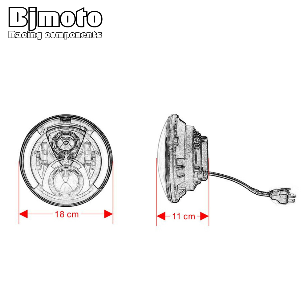 7 LED Projector Headlight Daymaker High/Low Beam Headlamp with turn signal Light For Harley Street Glide Softail FLHX FLS FLD