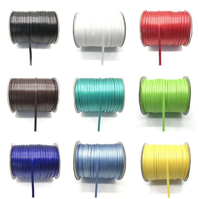 5 Meter/Lot 4mm Waxed Cord Thread String Strap Necklace Rope Bead For Jewelry Making DIY Bracelet Necklace