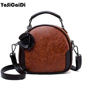 YASICAIDI Nubuck Leather Doctor Handbag Flower Women Shoulder Bag Vintage Retro Messenger Lady Tote Small Crossbody Designe Sac doctor bag