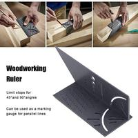 90 New Arrival Woodworking Gauge Ruler 3D Mitre Angle Measuring Square Measure Tool 45 Degree and 90 Degree Angles Measure Ruler (4)