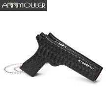 Annmouler Fashion Women Purse Pistol-shaped Bag Cool Small Messenger Ba
