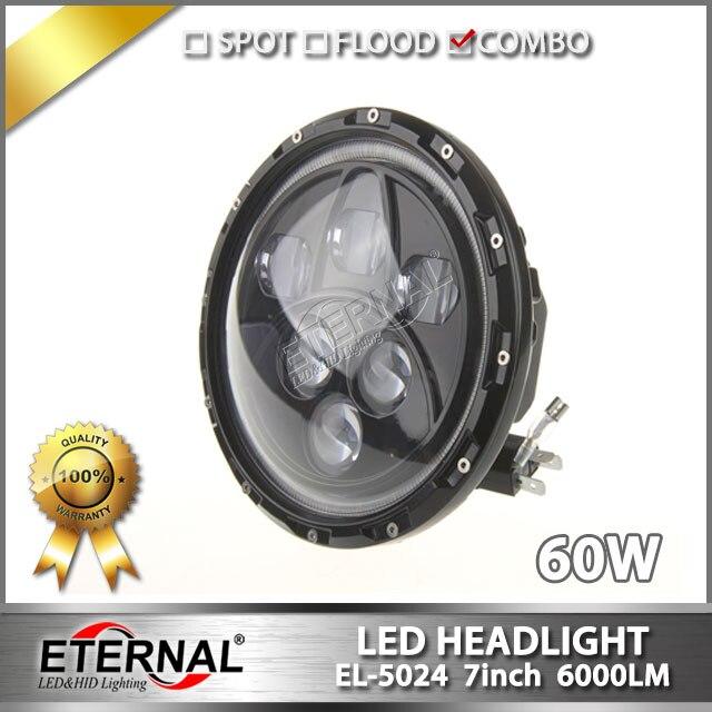 цены  free shipping pair 60W headlight Speakers LED headlight 7inch lamp with halo angel eyes for wrangler rubicon CT TJ JK FJ Miata