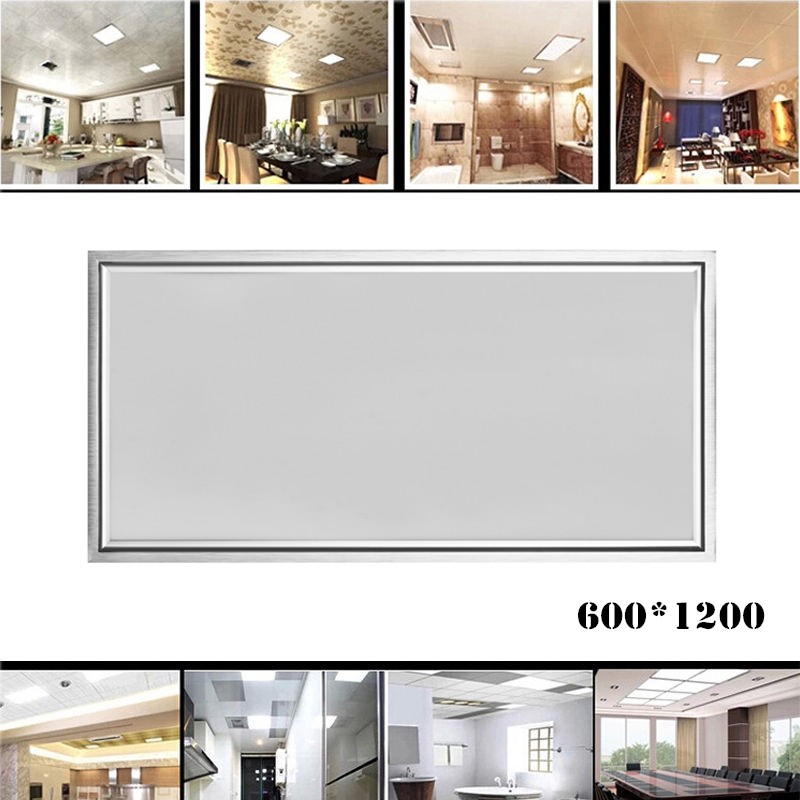 Rectangle LED Panel Light 1200X600 64W Cold Warm White AC110-240V Home Office Decoration Aluminum Frame Faceplate Ceiling Lamp