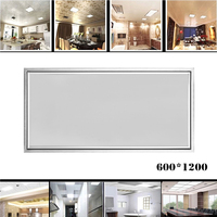 Rectangle LED Panel Light 1200X600 64W Cold Warm White AC110 240V Home Office Decoration Aluminum Frame Faceplate Ceiling Lamp