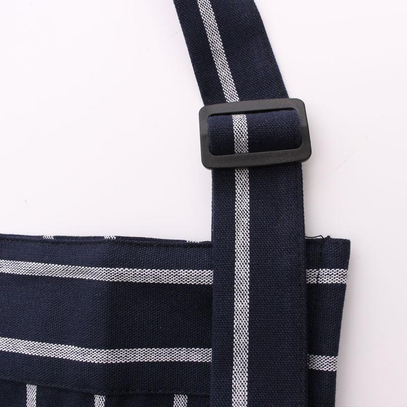 Чистый хлопок четыре части фартук Синий и белый в полоску приготовления уборка масляное пятно предотвращения пятен и белая