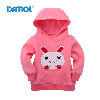 1T-5T Cotton Baby Clothes Fleece Baby Boy Hoodies With Hat Sweatshirts Outdoor Sport Girl Clothes Breathable Carton Print DR0121