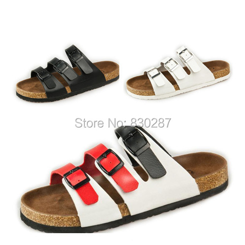 d41bbeffc9b44 2014 casual men cork babouche sandals women lovers slippers shoes fashion  buckle slip on slides flat summer roman beach sandal-in Women s Sandals  from Shoes ...