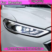 Ford Mondeo 2016 2018 용 자동차 스타일링 새로운 퓨전 헤드 램프 용 LED 헤드 라이트 Dynamic turn signal LED DRL Bi Xenon HID