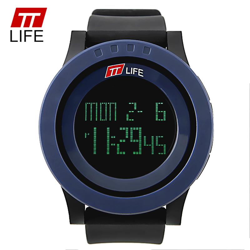 Prix pour TTLIFE Numérique Montre Homme Sport LED Militaire Montre Mâle Simple Minimalisme Grand Cadran Horloge Montre-Bracelet relogio numérique masculino