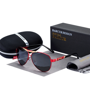 Image 4 - BARCUR Mens Sunglasses Polarized UV400 Protection Travel Driving Male Eyewear Oculos Male Accessories For Men