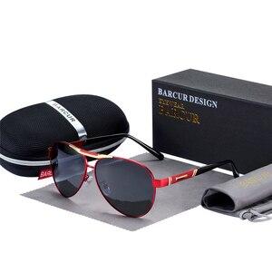 Image 4 - BARCUR degli uomini Occhiali Da Sole Polarizzati UV400 Protezione di Viaggio di Guida Maschio Occhiali da sole Eyewear Oculos Accessori Maschili Per Gli Uomini