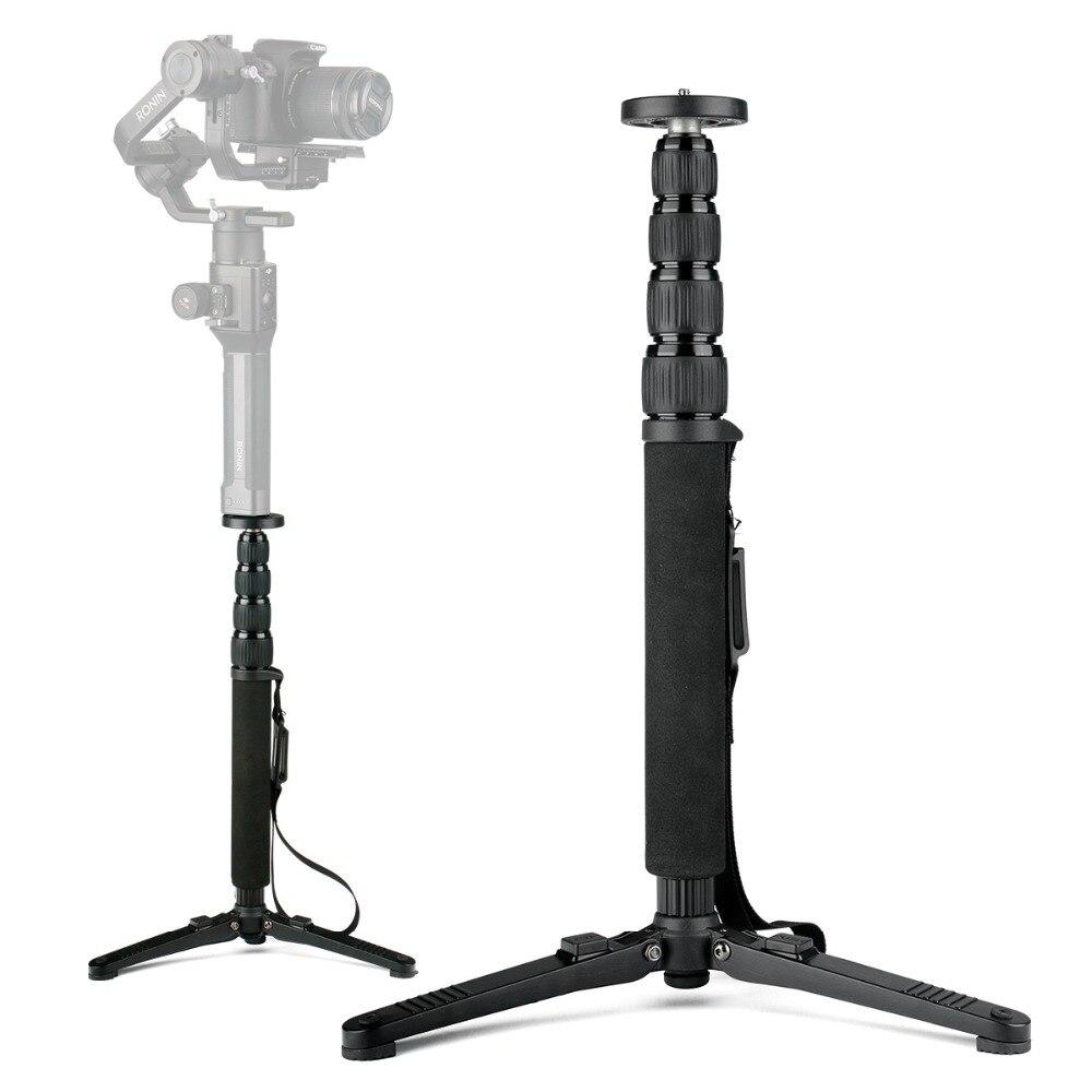 Professional Extendable Tripod Monopod Rod Stick for DJI RONIN S ZHIYUN Crane 2 LAB Moza Stabilizer