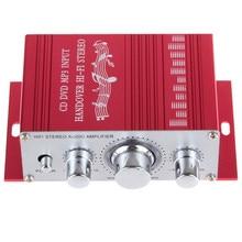 KENTIGER 20 W Rojo Mini Hifi Amplificador de Potencia Estéreo amplificador Digital de La Motocicleta Auto Del Coche de Sonido Modo de Soporte de Audio DVD MP3