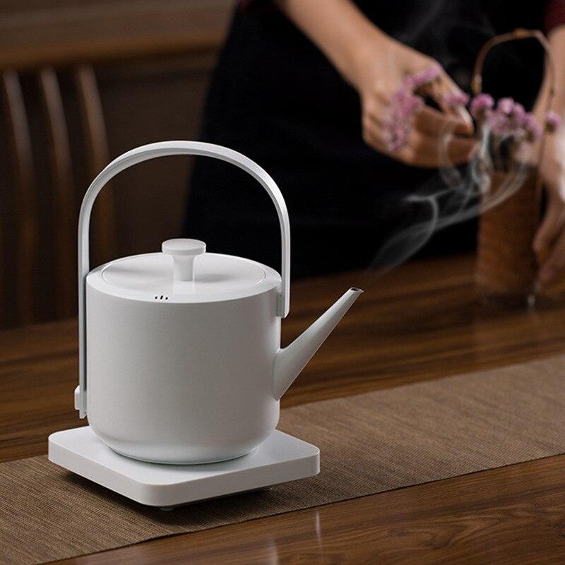 Nova Chaleira Elétrica com Alça 600 ML Chaleira de Água Design Simples Café Chá Pote Rápida Chaleira Caldeira de Água Fervente