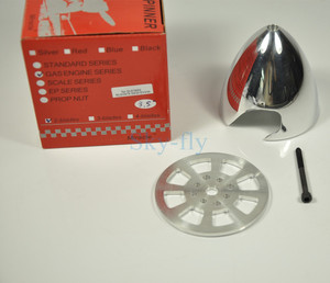 Image 4 - CNC Aluminum Alloy Spinner 3.5inch/89mm Two Blades Prop Special Drilled For DLE55 EME55 DLE30 Engine