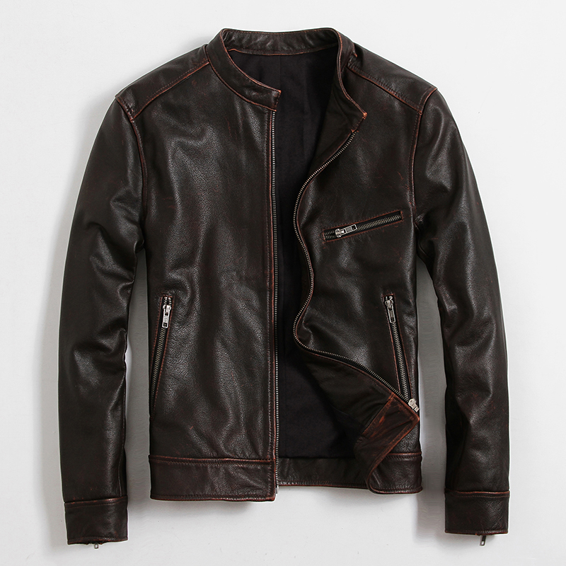 Popular Leather Retro Motorcycle Jackets-Buy Cheap Leather Retro ...