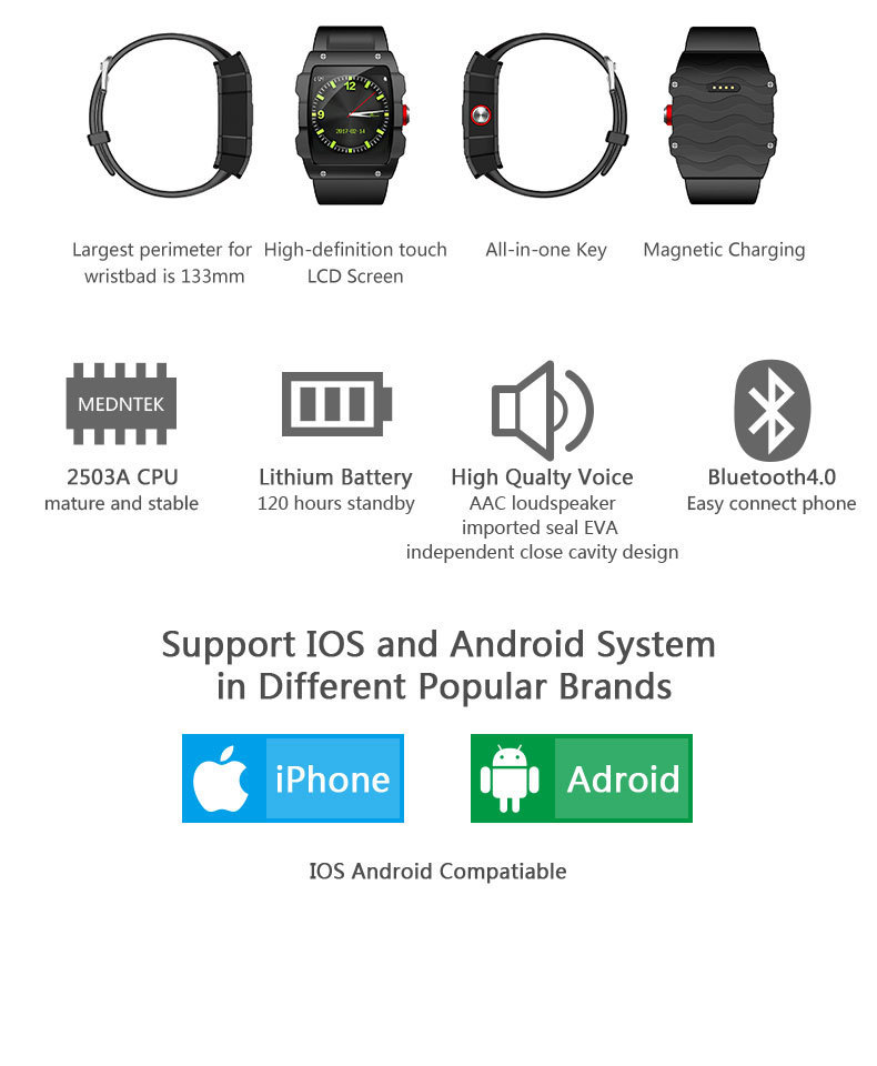 Brochure - LEMFO V18 GPS Smartwatch Support File management Sleep monitor Sedentary reminder Pedometer Smart Watch for IOS and Android