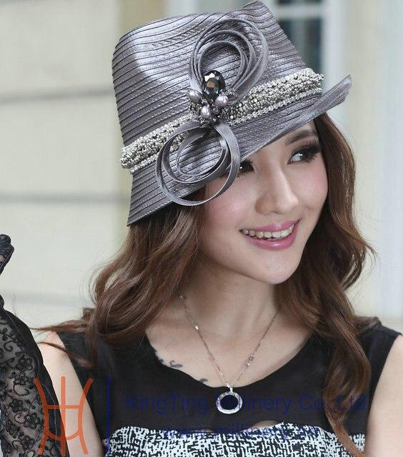 Free Shipping Hot Sale Fashion New Arrival Ladies Elegant Church Hats Women  Dress Fashion Dress Formal Hats High Good Quality fd9884a25dc